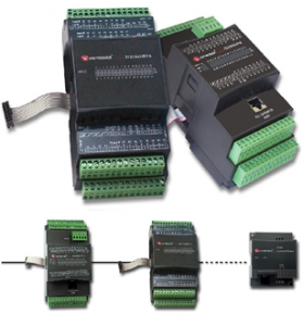 Unitronics own remote IO blocks, analogue and digital options