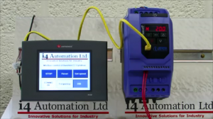 "Modbus coms with an Invertek E2 Optidrive and a Unitronics combined PLC & HMI (V570 5.7"")"
